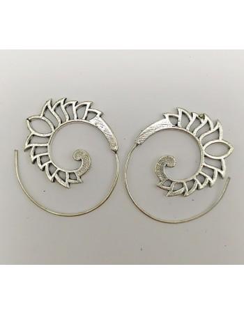 Pendientes espiral 3,5cm. ref: pe960 - Bisutería de India.