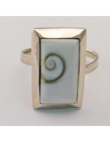 Anillo de plata ojo de Shiva. ref: AG14141 - Joyería étnica.