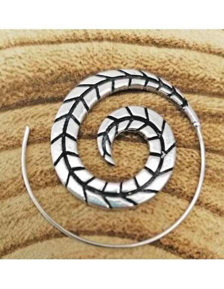 Pendientes espiral estilo étnico. ref: pe709 - Bisutería hippie.