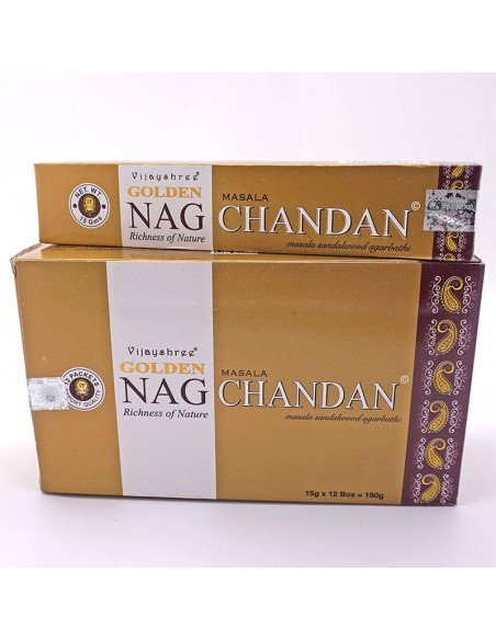 Incienso Golden Nag Chandan- Incienso natural.