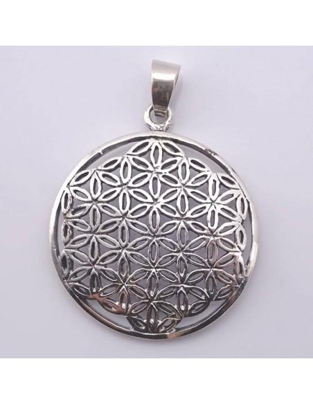 Colgante de plata, Flor de la Vida-Joyería Étnica.
