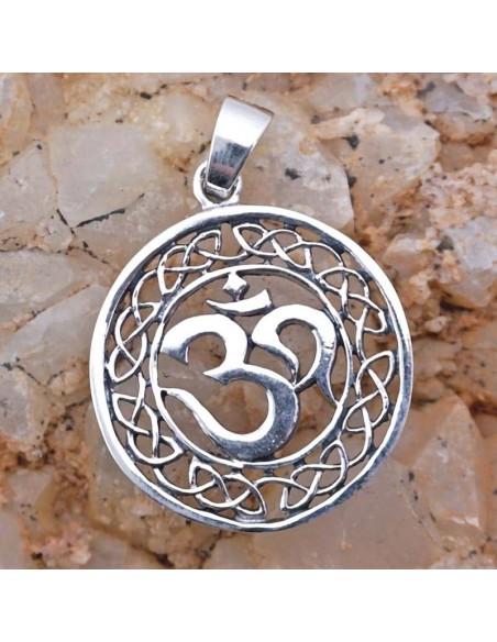 Colgante de plata símbolo OM-Joyería étnica