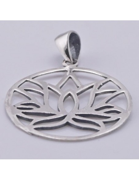 Colgante de plata Flor de Loto.