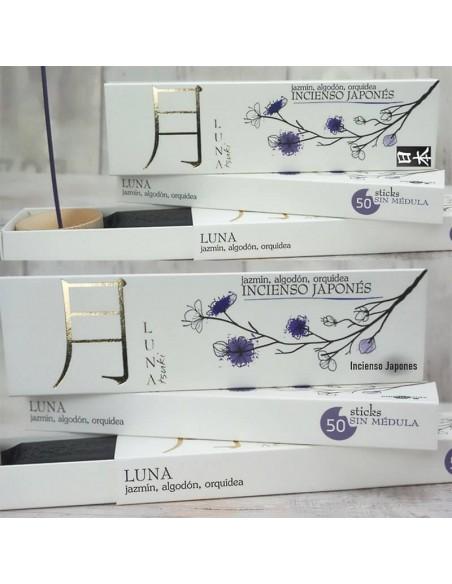 Incienso Japonés Luna- Jazmín, algodón, orquídea.