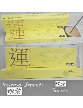 Incienso Japonés - Suerte. Melocotón, mango y naranja.
