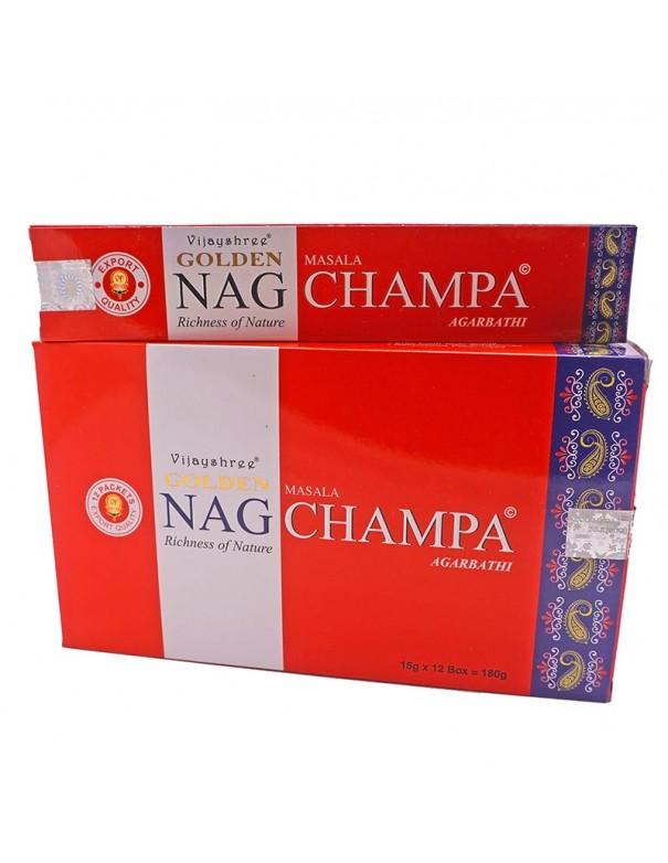 Incienso natural Golden Nag Champa.