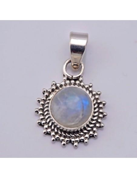 Colgante de plata con piedra de Luna- Joyas de plata.