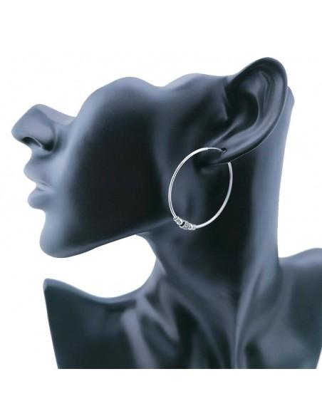 """Aros de plata"" Bali de 40mm. Aros de plata mujer."