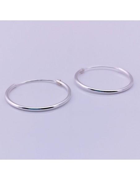 Aros lisos de plata 18mm-Piercing de plata.