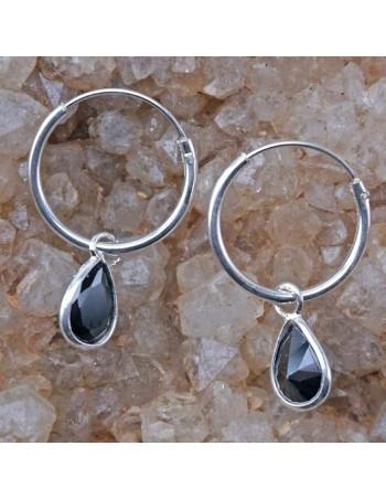 Piercing de plata 14mm con circonita- Aros de plata.