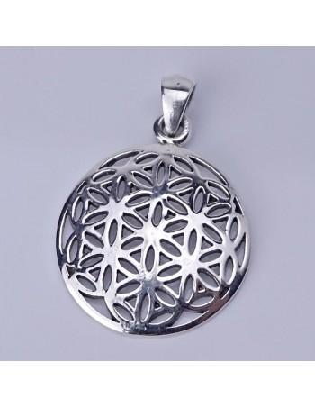 Colgante de plata con símbolo OM. Joyas De Plata.