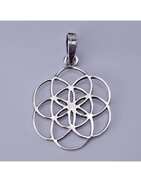 Colgante de plata con Mandala infinito.