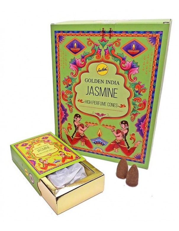 Incienso en conos reflujo Jasmine. Incienso Hindú.