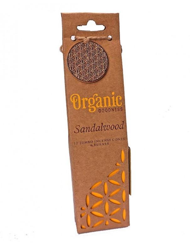 Conos de Incienso orgánico madera de Sándalo.
