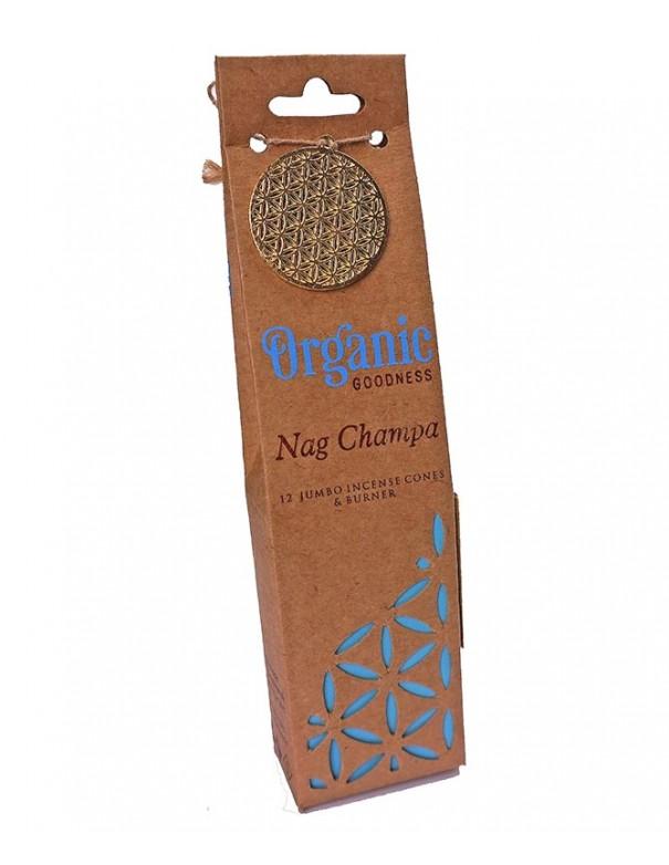 Incienso orgánico en conos Nag Champa. Conos de incienso calidad premium.