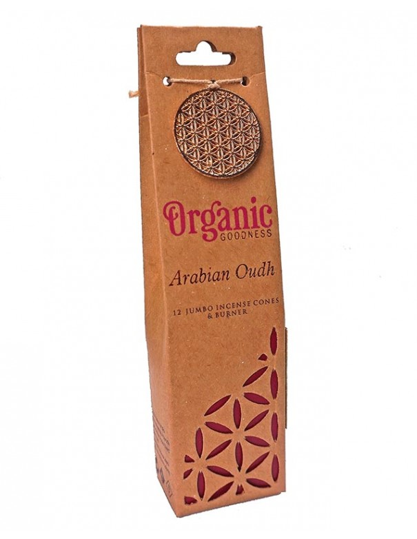 Incienso orgánico en conos Arabian Oudh.