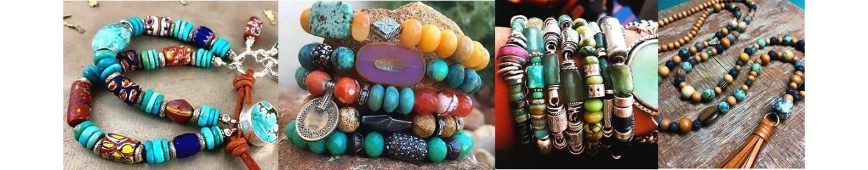 Visita nuestra tienda online de pulseras con piedras semipreciosas y encontrarás una amplia variedad de pulseras con piedras naturales como el cuarzo rosa,jaspe rojo, malaquita.turquesa,ojo de tigre y todas las piedras semipreciosas que puedas imaginar.